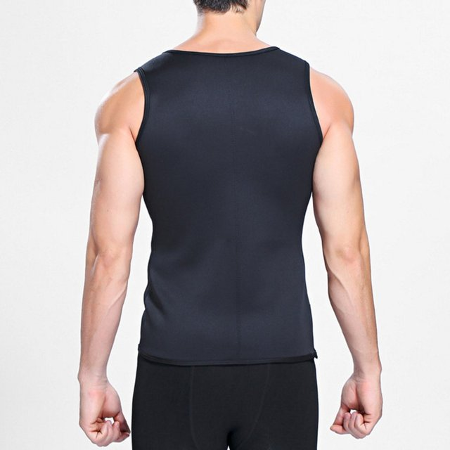 Sweat Sauna Body Shaper Men Slimming Vest Thermo Neoprene Trainer Sliming Waist Belt Durable And Comfortable Weight Loss Vest 4