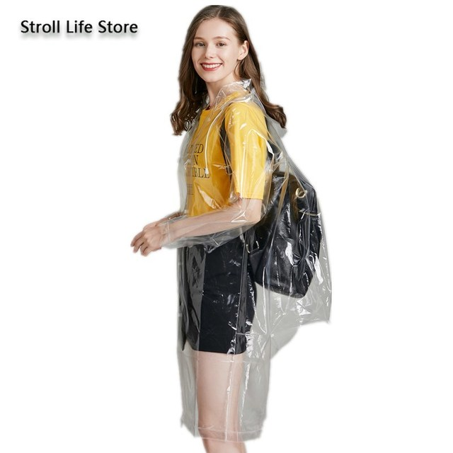 Clear Adult Raincoat Women Hiking Long Rain Coat Plastic Suit Transparent Poncho Electric Car Woman Jacket Impermeable Rain Gear 3