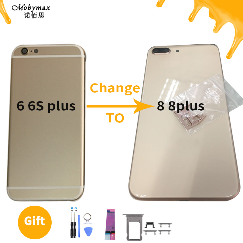 Battery-Cover Back-Housing 6s-Plus Change-To-8-Plus Like iPhone 6 Glass-Body for 8-Rear