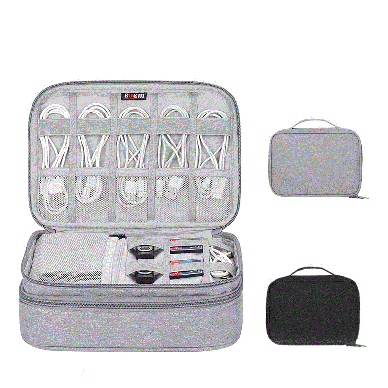 Cable Organizer Bag Cable Storage Bag Headphone Case Travel Accessories Digital Pouch Electronic Gadget Organizer Wires Charger