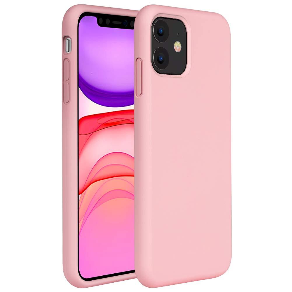 Мягкий Жидкий официальный силиконовый чехол для iPhone 11 Pro Max 8 Plus из микрофибры, Противоударная задняя крышка для iPhone X XR Xs MAX XS - Цвет: Pink