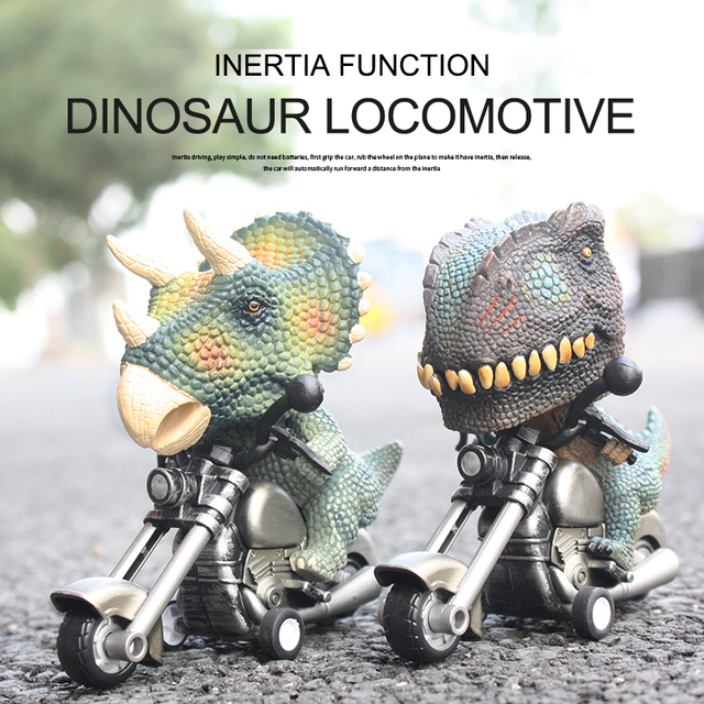 Children Competitive Games Simulation Dinosaur Motorcycle Model Kids Toys 1