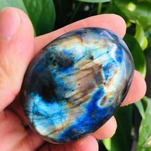1PCS Natural Labradorite Crystal Gem Stone polishing Original Healing