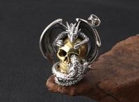 925 sterling silver personality Thai silver pendant jewelry Domineering skull pterosaur men's pendant