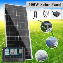 12V ~ 18V 300W zestaw paneli słonecznych kompletny ładowarka słoneczna MPPT kontroler wyświetlacz LCD PWM podwójny na świeżym powietrzu przenośny zasilacz tanie tanio CN (pochodzenie)