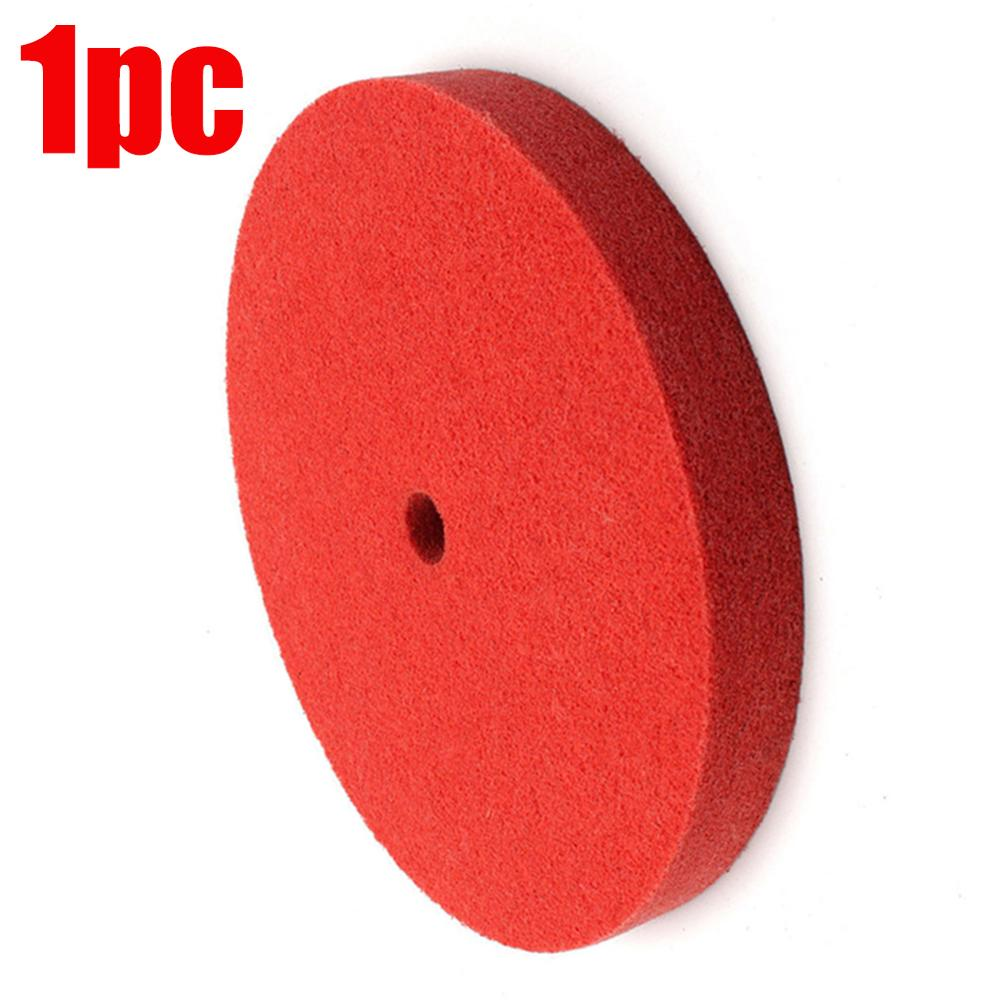 1pc 200mm Red Nylon Fiber Polishing Buffing Waxing Pad Accessories Wool Polishing Pad Polishing Plate Connector Drill