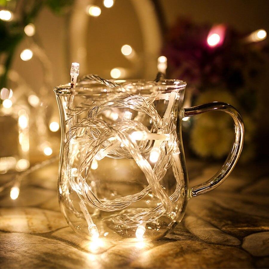 220V EU 5m 50 LED Garland String Lights Christmas Tree Wedding Street Decoration Waterproof Fairy Light Indoor Outdoor Lamp