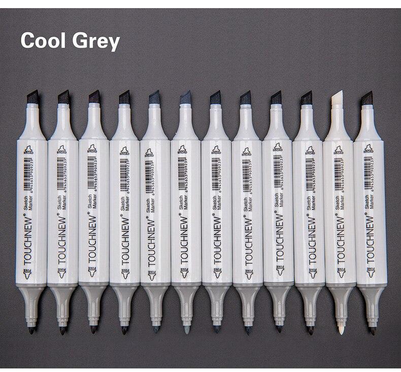 Touchnew 61230 cor cinza marcadores dupla álcool
