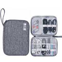 New Style Single Layer Digital Storage Bag Multi-Functional Storage Bag of Data Cable Mobile Power Headrest Storage Bag