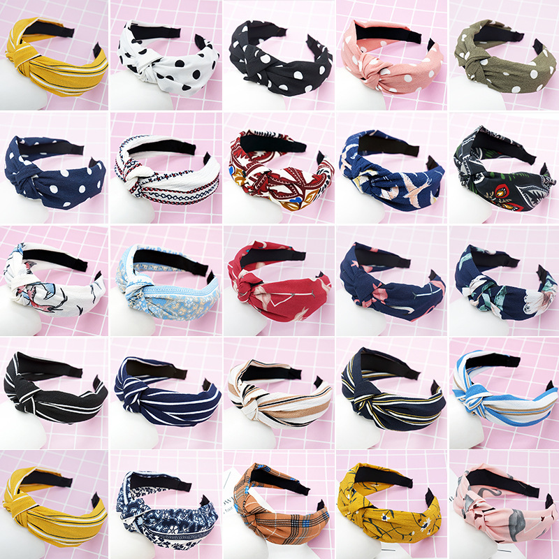 Headbnand Bowknot Flower New Arrival 1PC Comfortable Strip Cloth Party Hair Accessories Soft Gifts Wide Dot
