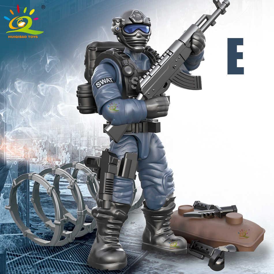 Куклы-полицейские SWAT 480 шт., модели, строительные блоки, военные, CS City, спецназ, оружие, армейские фигурки, игрушки на Рождество для детей
