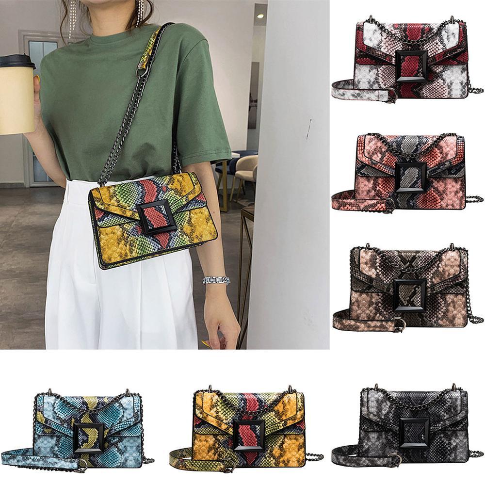 Messenger Bag Snake Print Shoulder Bag Vintage Crossbody Bag Women's Shoulder Bag Flower Printing Canvas Graffiti  Beach Bolsa