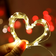 YINUO LIGHT 10M 5M Copper Wire LED String Lights Battery Waterproof Fairy Lights Led Garland Christmas Wedding Home Decoration string lights new 1 5m 3m 6m fairy garland led ball waterproof for christmas tree wedding home indoor decoration battery powered