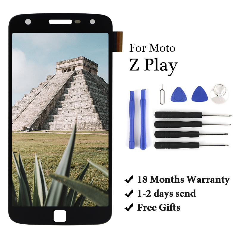 18 month Warranty For Motorola Z Play LCD Display Touch Screen Digitizer Assembly For Z Play <font><b>XT1635</b></font> <font><b>XT1635</b></font>-02 lcd touch screen image