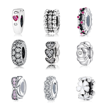 100% Authentic 925 Sterling Silver Fashion Women Charms Spacer Beads Fit Original Pandora Charm Bracelet Jewelry Making
