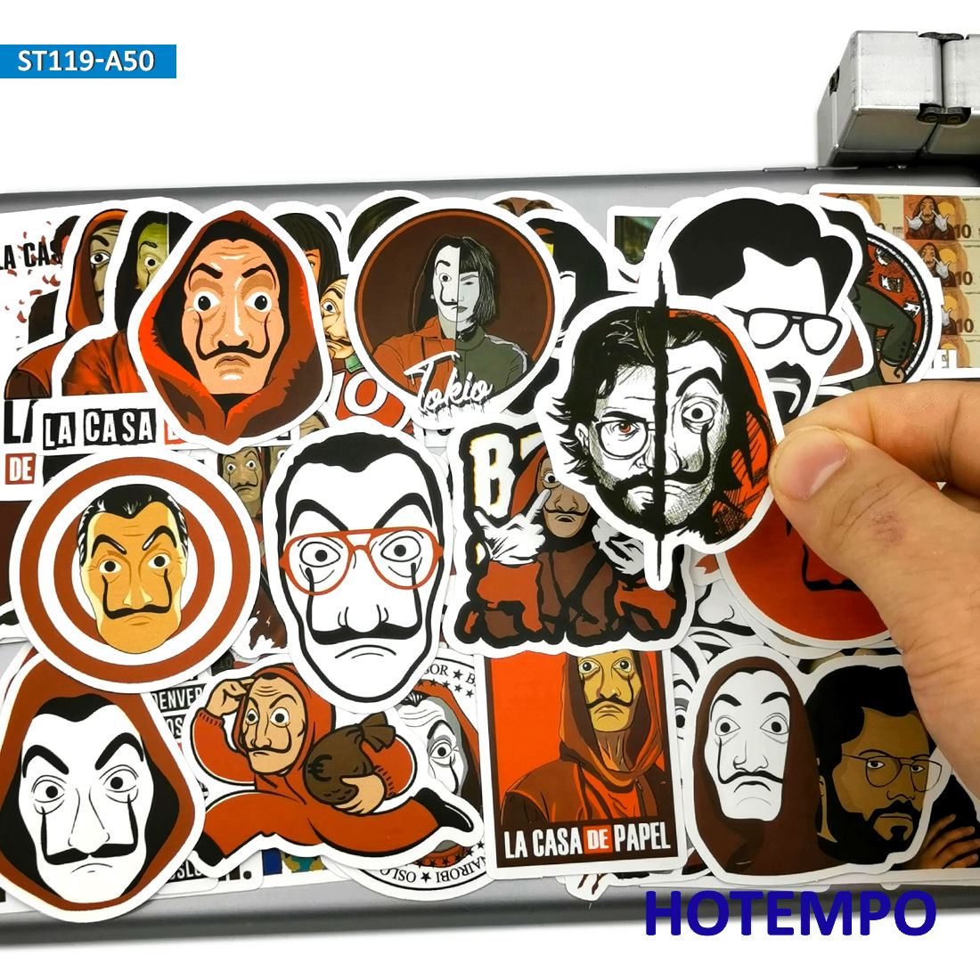 50pcs Spain Suspense TV La Casa De Papel Style Stickers House Of Paper For Mobile Phone Laptop Suitcase Skateboard Decal Sticker