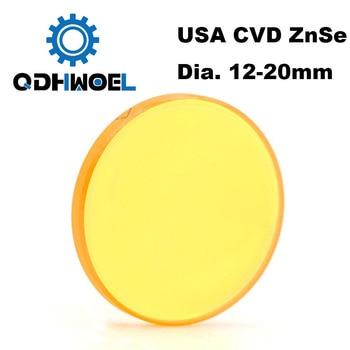 USA CVD ZnSe Co2 Laser Lens DIA 12 15 18 19.05 20 FL 38.1 50.8 63.5 76.2 101.6 127mm Focus for Laser Engraving Cutting Machine usa cvd znse focus lens 20mm dia 63 5mm focal for co2 laser co2 laser engrave machine co2 laser cutting machine