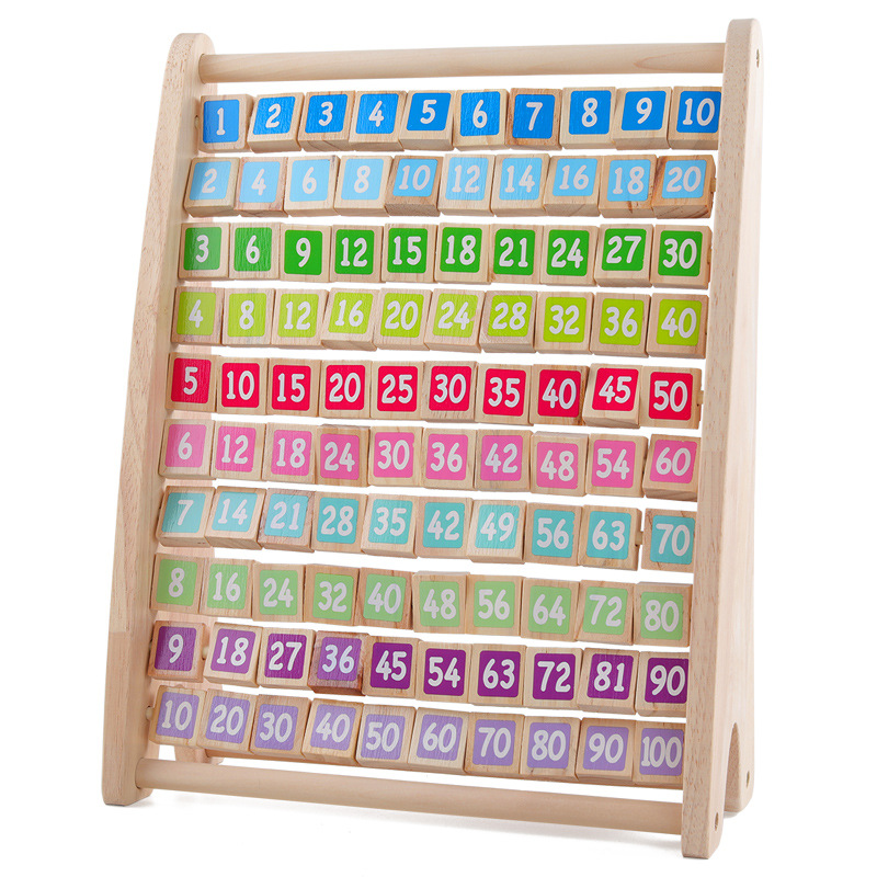 Kids Montessori Wooden Toys Multiplication Table Baby Early Educational Toys Arithmetic Teaching Aids Math Toy Children Gifts