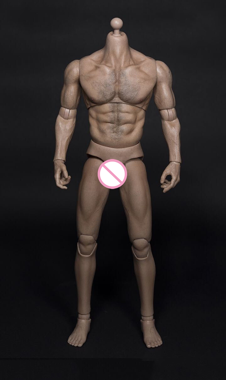 1/6 Man Body 31CM Male Figure Muscle Wide Shoulder AT012 Action Toy Collection Gift