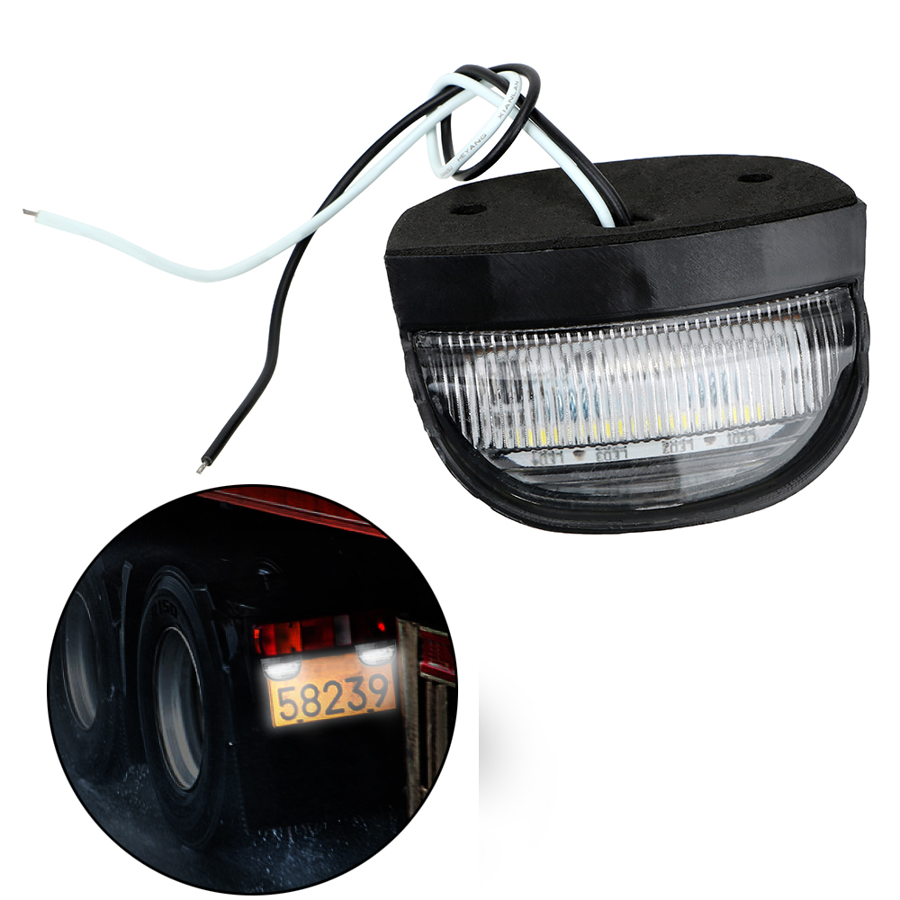 Tail Lamp DC 10-30V Number License Plate Light 4  LED Auto Replacement For Boat Trailer Truck Lorry Truck Rear