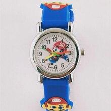 цены 3D Cartoon Super mario doll kids Watch Children watches Girls Boys Students Quartz Clock Wristwatches supermario kol saati reloj