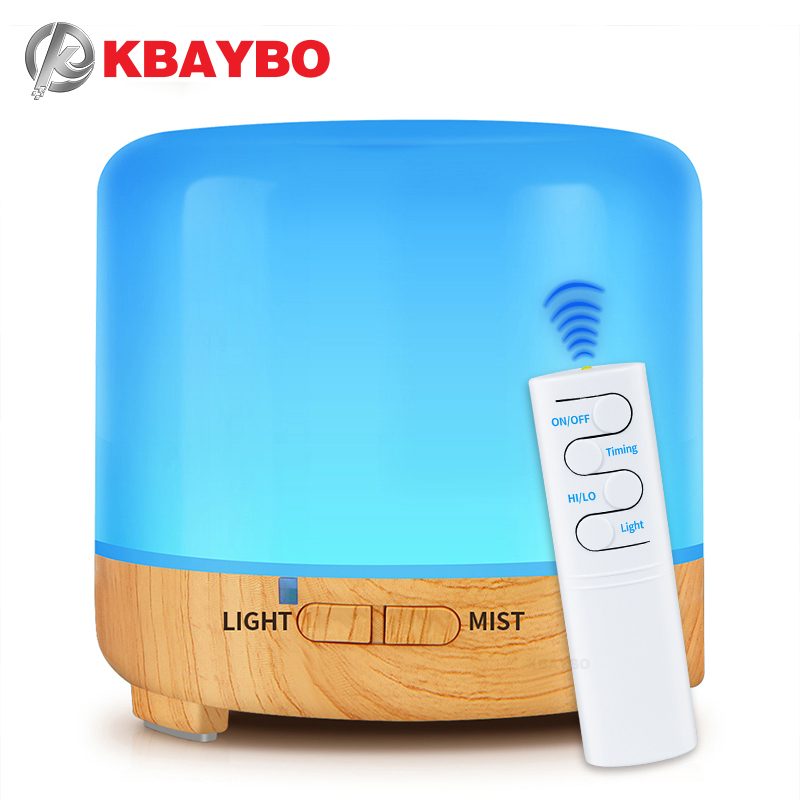 KBAYBO 200ml USB Electric Aroma Air Diffuser  Ultrasonic Cool Air Humidifier With 7 Soothing Color LED Changing Light  For Home