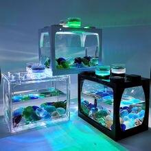 Маленький аквариум маленький настольный креативный эко микро