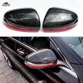 Красная линия крышка для зеркала из углеродного волокна для Mercedes Benz C class c200 c220 c250 c63 AMG 2014-2018 1:1 Сменные стильные боковые крышки