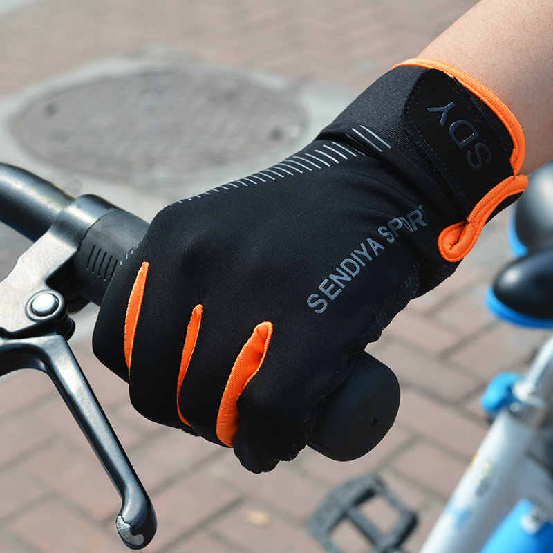 Luvas da bicicleta da bicicleta completa do dedo touchscreen luvas mtb das mulheres dos homens respirável luvas de verão anti-skid protetor solar m l xl