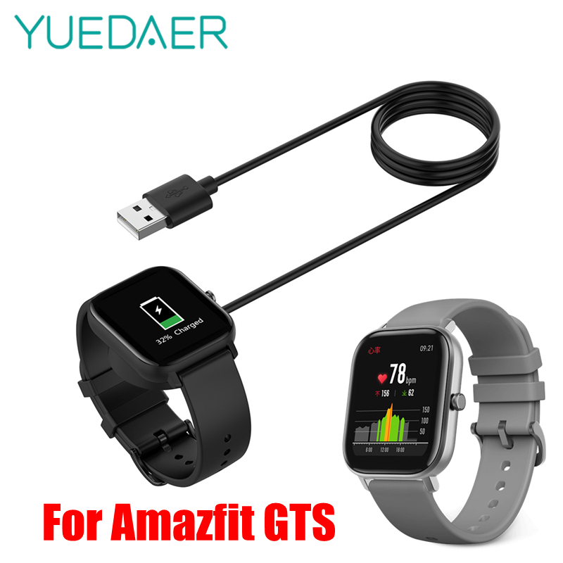 YUEDAER <font><b>5V</b></font> <font><b>0.2A</b></font> 1M Dock <font><b>Charger</b></font> For Huami Amazfit GTS Smart Watch USB Charging Cable For Amazfit GTS Wired <font><b>Charger</b></font> ABS Material image