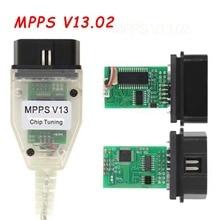 O programador do ecu smps mpps v13.02 v13 k pode a microplaqueta do pisca que ajusta o cabo diagnóstico do carro de remap mpps v13.02 obd2 com multi linguagem
