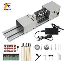 Dc12 24v мини токарный станок с ЧПУ станки бусины деревообрабатывающий