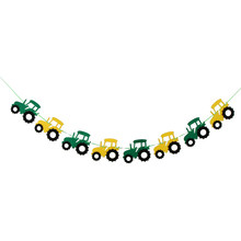 3x Cool Tractor Auto Ontwerp Vilt Bunting Banner Garland Teken Baby Shower Jongen Verjaardagsfeestje Indoor Outdoor Decor(China)