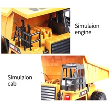 1/18 scale 6 channel rc car Huina 1540 remote control dump truck construction RC alloy truck