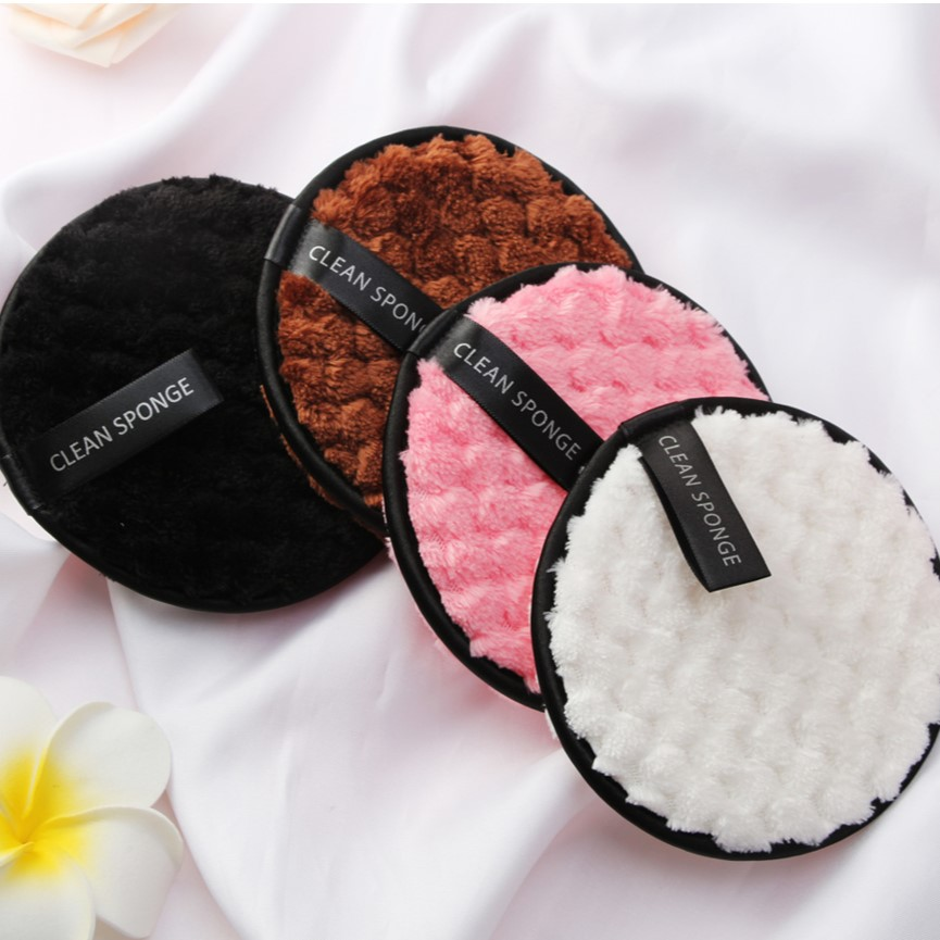 YBLNTEK 3/4PCS Makeup Remover Pads Microfiber Cloth Pads Reusable Cotton Makeup Remover Makeup Cleaning Wipe Double Layer Towel