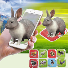Educational-Toy Encyclopedia Animal Games Learning-Card 3d 68pieces Vivid of 13-Languages