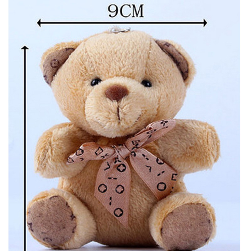 1pc Cute Bear Plush Toys For Children Mini Soft Plush Animals Toys With Keychain Gift For Kids Girls Random Color