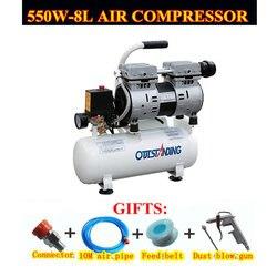 Compresor de aire de 220V máquina de llenado de presión 0.7mpa 30L tanque de aire silencioso auto-reparación pequeño laboratorio Dental