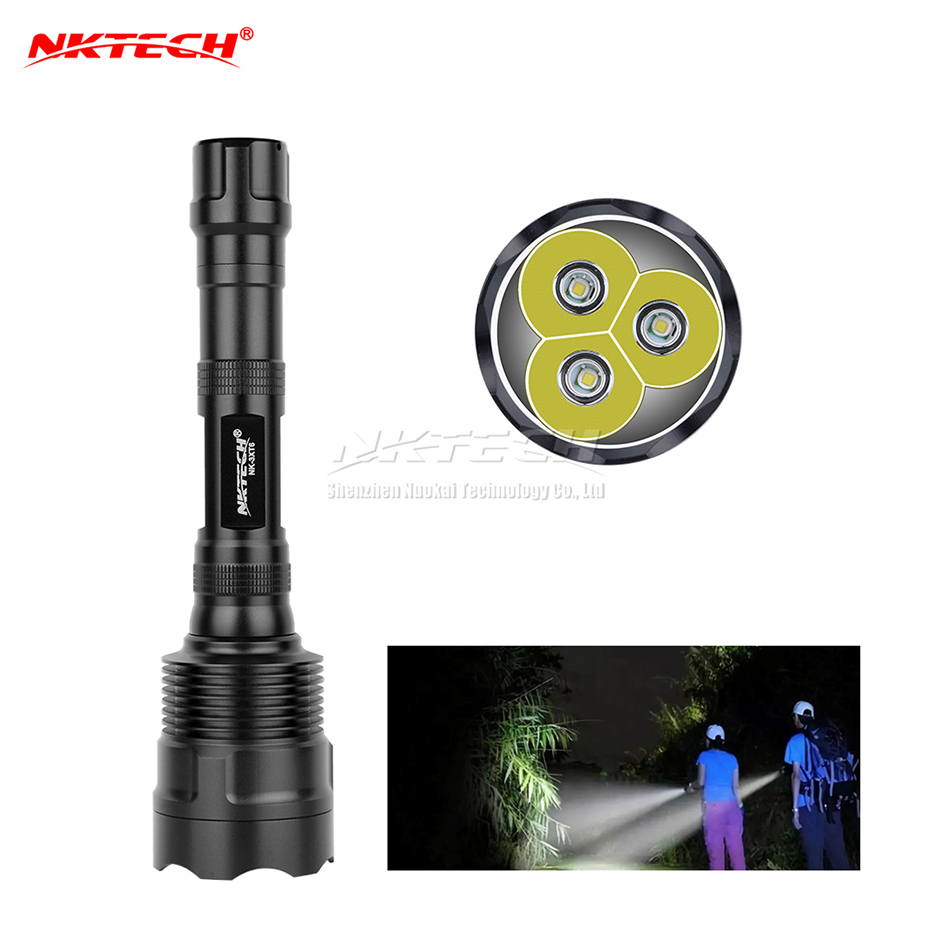 nktech nk 3xt6 xml t6 levou lanterna lampada 3800 lumens 3x 5 modos torch super bright