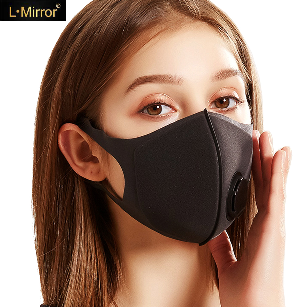 L.Mirror Thicken Pollution Mask Anti Air Dust And Smoke Pollution Mask With Adjustable Straps Washable Respirator Mask