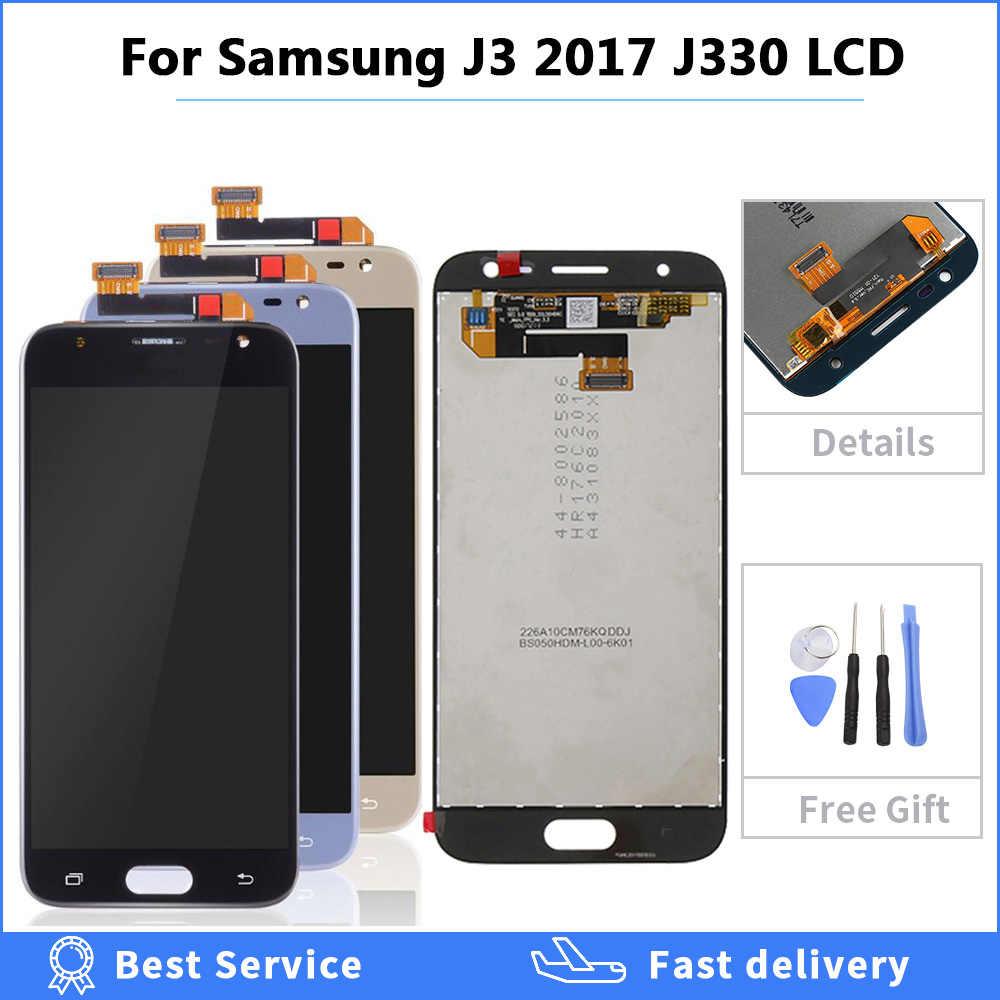 قابل للتعديل LCD J320 J330 J337 2017 2016 2018 لسامسونج غالاكسي J3 2016 2017 2018 عرض اللمس الشاشة إصلاح محول الأرقام الجمعية