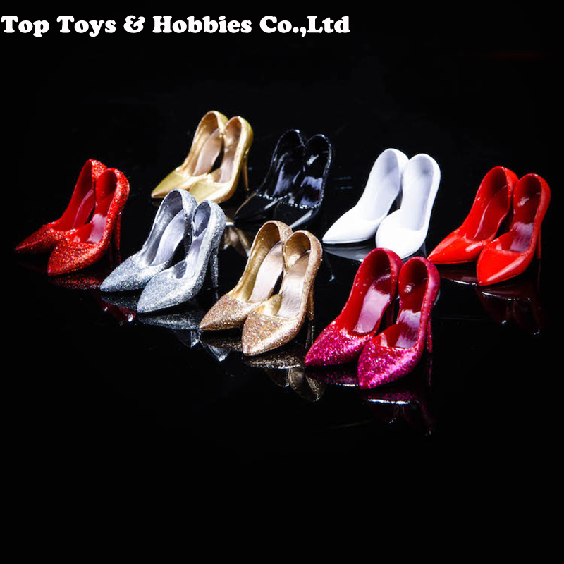 NRTOYS NR12 1/6 Scale Female Trend High Heels Shoes Model Crystal High Heels Fit 12inches Figure Woman Body Figures Accessories