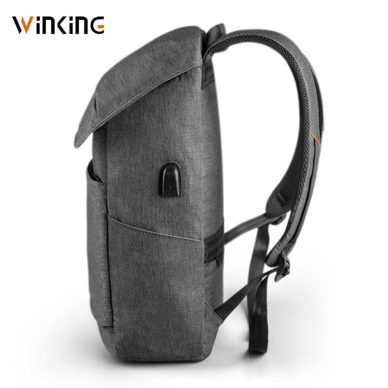 "Kingsons WK 15.6 ""מחשב נייד תרמיל חיצוני USB תשלום מחשב תרמילי נגד גניבה עמיד למים שקיות עבור גברים נשים חדש סגנון"