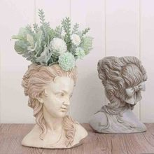Get more info on the large succulent plant flower pots the head of elegant Greek goddess bonsai planter garden pot resin crafts home desktop decor
