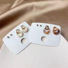Mengjiqiao новые модные милые украшенные металлическим кольцом