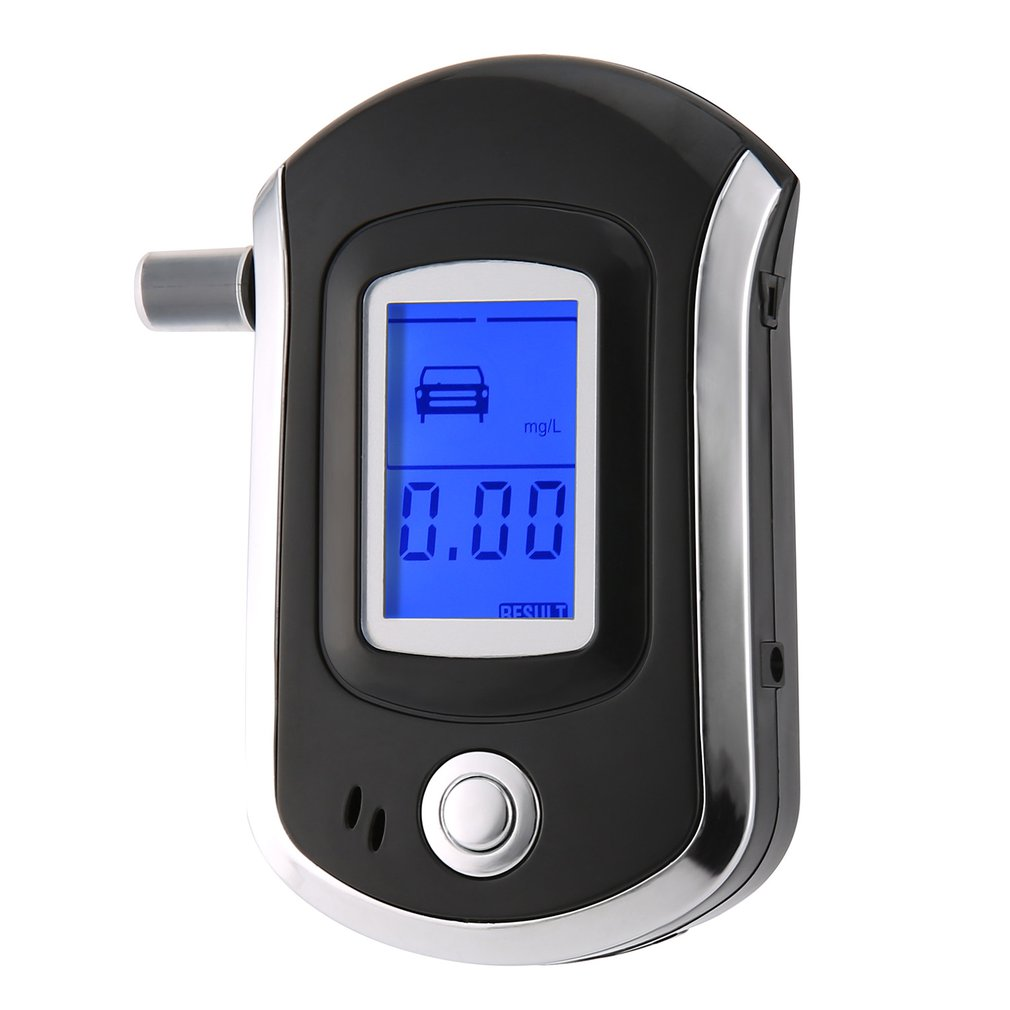 Digital Breath Alcohol Tester Breathalyzer With LCD Dispaly With 5 Mouthpieces AT6000 Hot Selling Drop Shipping