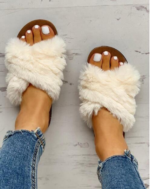 2020 New Style Online Celebrity H Slipper Women's Summer Outer Wear-Style Decorative Pattern Versatile Flat Sandals INS Fashion
