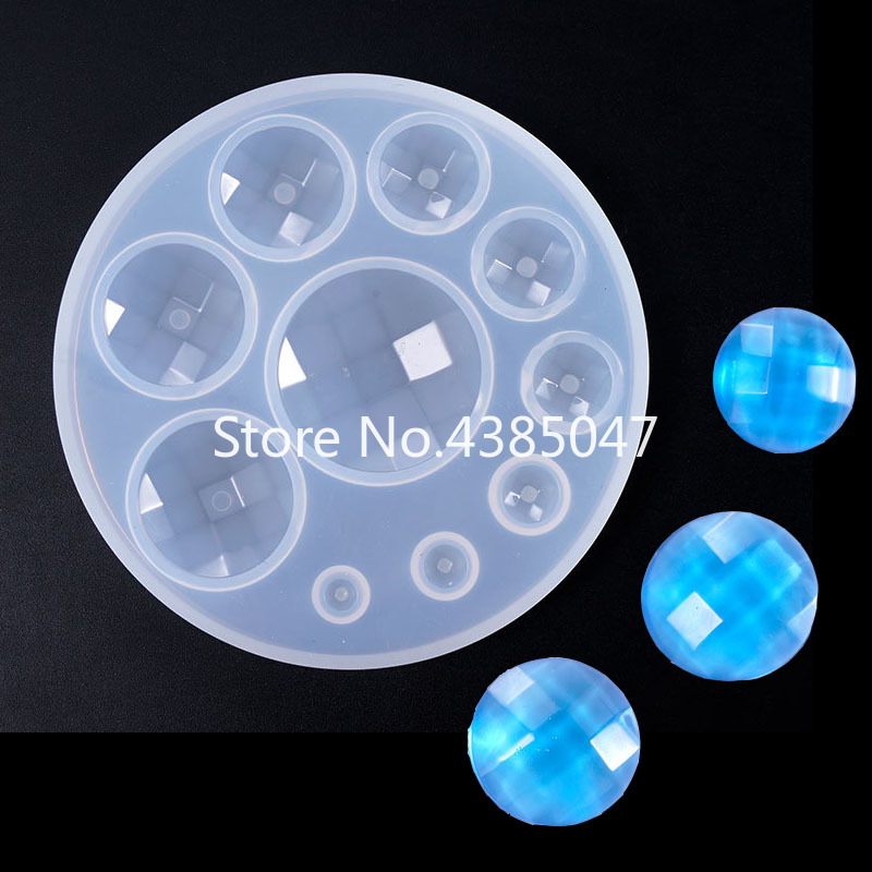 1PC Diamond Ball Stone Shaped Jewelry Tool Jewelry Mold UV Epoxy Resin Silicone Molds For Making Jewelry