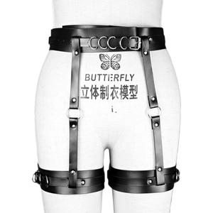 Image 5 - Women Harness Sexy Garters Bondage Lingerie Belt Punk Strap Garter Band Leg Adjustable Suspender Straps Leather Harness leg