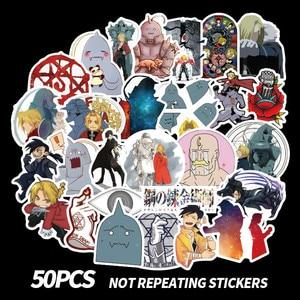 50Pcs one Set Fullmetal Alchemist Anime Manga Card Paster Stickers 2020(China)
